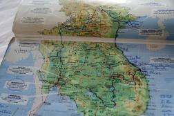 CAMBODGE Carte du tour de trois mois en Asie du sud est 2009