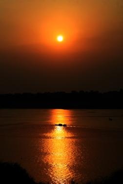 CAMBODGE Coucher de soleil Kompong Cham 2009