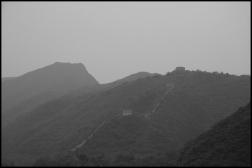 CHINE Grande muraille Huanghua noir et blanc septembre 2007
