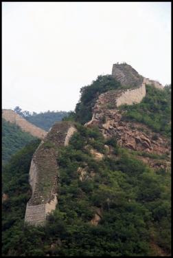 CHINE Grande muraille Huanghua ruine septembre 2007