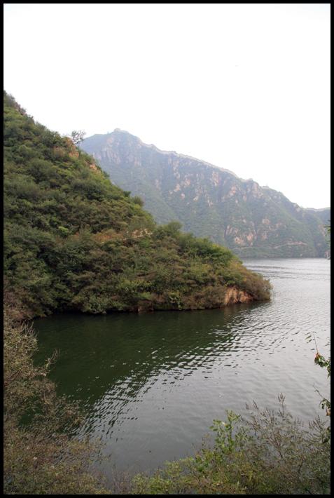 CHINE Lac et grande muraille Huanghua septembre 2007