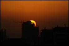 CHINE Xian coucher de soleil septembre 2007