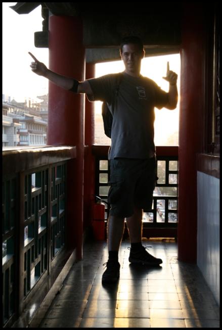 CHINE Xian Gilles dans la Bell Tower septembre 2007