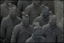 CHINE Xian soldats armee de terre cuite II septembre 2007