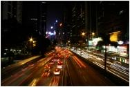 HONGKONG Circulation by night septembre 2007