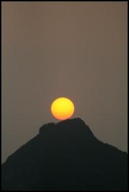 HONGKONG Coucher de soleil sur Victoria Peak 2 septembre 2007