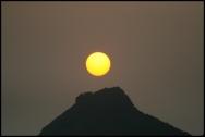 HONGKONG Coucher de soleil sur Victoria Peak septembre 2007