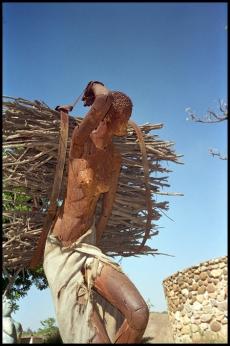 ZIMBABWE Sculpture femme africaine 1996