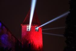 SUISSE Lumieres depuis une tour du chateau Morat 2017