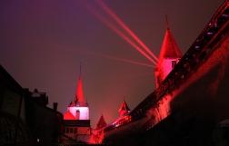 SUISSE Lumieres magiques chateau de Morat janvier 2017